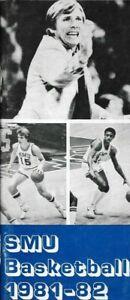 1981-82 SMU MUSTANG BASKETBALL media guide, DAVE BLISS, Excellent, Original