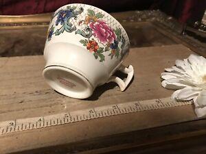 """Vintage Booths Silicon China FLORADORA Tea/Coffee Cup 4 1/4""""x2 3/8"""""""