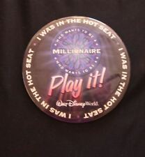 WDW Who Wants to be a Millionaire I Was in the Hot Seat Button Pin Play it!