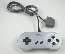 USA SELLER: New Super NES SNES Yobo FC Twin Controller Silver & Black Buttons