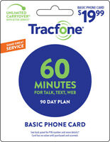 Tracfone 60 Minute Plan - 90 Days/60 Minutes/60 Text/60MB Data