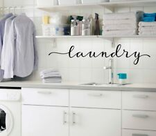 laundry in Script - Vinyl Decal Sticker Kitchen Decor Family Laundry Room Decal