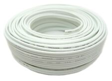 100' Feet 14 Gauge White Stranded 2 Conductor Speaker Wire Car Home Audio CCA