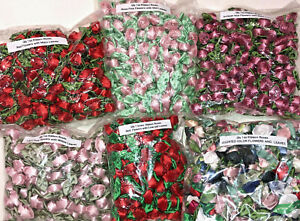 144 SATIN RIBBON ROSES  Applique Sewing Bow Craft Choose your color NEW!