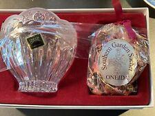 New listing Vintage Oneida Crystal Southern Garden Sachet & Petal Bowl NIB Germany Glass