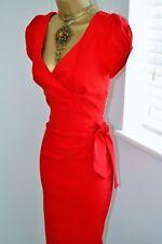 ⭐️ Butterfliesbuttercups ⭐️ Felicity Diva Dress Size 10 Red Marilyn Wiggle
