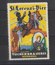 German Poster Stamp Beer Horse Black