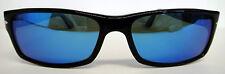 PERSOL 2747-S Sunglasses Black Custom Blue Polarized Crystal Authentic Size 57