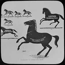 Glass Magic Lantern Slide PROPULSIVE FORCES DEVELOPMENT 1840 - 1907 HORSE POWER