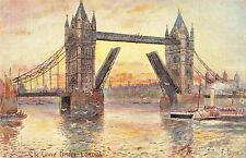 BR93674 the tower bridge london ship painting postcard   uk