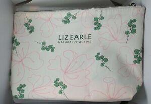 Liz Earle Naturally Active Botanical Print Cotton Make-up/Toiletries Bag New