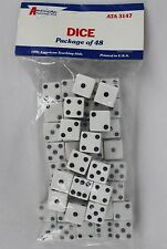 American Teaching Aids 1991 ATA3147 48 White 16mm Dice (6 Sided) NEW SEALED