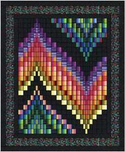 Quilt Kit Prism  Bargello Strip Quilt with Benartex Gradation Fabric and Bali
