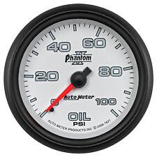 Autometer 7821 Phantom II Oil Pressure Gauge, 2-5/8 in., Mechanical