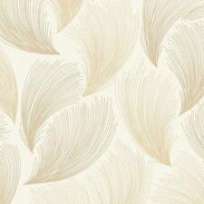 Rasch - Gatsby Fan Feather Motif - In Gold - Glittered Wallpaper 319712