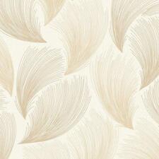 Rasch - Gatsby Fan Feather Motif - In Gold - Glittered Wallpaper 319712