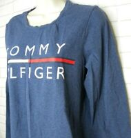 Women's Tommy Hilfiger Sport Blue Spell Out Long Sleeve T-Shirt Size Large