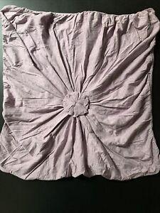 Anthropologie ROSETTE Lazybones Euro Sham In Purple cotton jersey Boho 26x26