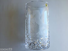 """Waterford MASTER CUTTER """"LEAPING HORSE"""" Crystal Vase 12.5 x 6 x 4 5/8 inch NEW"""