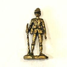 "Vintage Pewter Figurine Man People Soldier Explorer 2 1/4"" Tall"