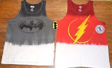 The Flash or Batman  Adult Tank Top Logo Style T-Shirt DC Comics Licensed