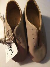 NEW Leo's Dancewear Giordano TAN Tap Shoes Sz 2 M  NWOB Unisex #5026