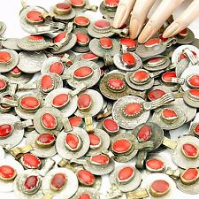20 real Jeweled COINS Tribal Belly Dance Kuchi Tribe - RED Color
