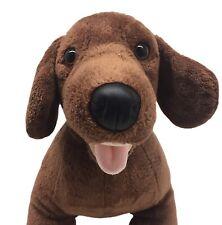 Build A Bear Long Brown Dachshund Weiner Dog Plush Stuffed Animal Toy 16 In Bab