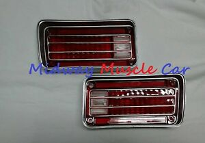 rear bumper tail lamp light lens L & R pair 70 1970 Chevy Chevelle Malibu