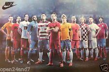 "NIKE ""WORLD CUP FOOTBALL STARS""POSTER-Ronaldo,Neymar,Sneijder,Modric,Lewandowski"
