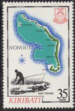 Kiribati SG203w 1983 35 C isla mapas wmk invertida estampillada sin montar o nunca montada