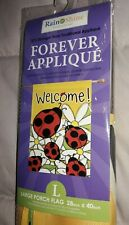 New Large Porch Flag Welcome Ladybugs Daisies Spring/Summer by Rain or Shine