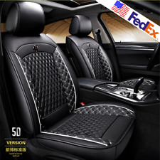 Universal Full Set PU Leather Car Seat Cover Cushion Pad Diamond Feature USA 1x