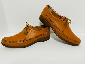 Clarks Leather Casual Dress Shoes Orange/Brown Weave Lace Mens Size 10.5