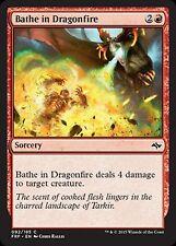 *MRM* FR 4x Bathe in Dragonfire/Bain dans le feu des dragons MTG Fate reforge