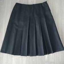 Vintage Fletcher Jones Skirt Wool Blend Pleated Midi Black Size 16