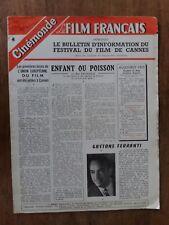 Magazine LE FILM FRANCAIS  n°16 FESTIVAL DE CANNES mai 1955*