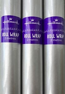 Hallmark Silver Wrapping Paper Rolls 2-96 Metres - 70cm Wide-Royal Mail Tracked