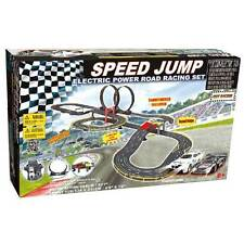 Electric Race Track Set Slot Racing 2 Loop Speedway Toy 2 Racer Car Fast Fun New