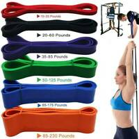 Resistance Bands Tube Exercise Elastic Band Fitness Equipment Yoga Loop Bands US