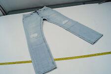 TRUE RELIGION Damen Jeans Hose Gr.25 W25 stone wash hellblau used look TOP #94