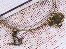 Alex and Ani Sacred Dove Charm Bangle Gold Bracelet