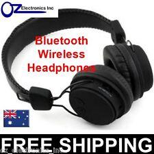Black Wireless Stereo Bluetooth Headphones for iPhone 5 6 Samsung Galaxy NEW