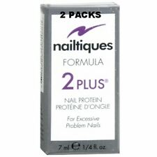 2 PAKCS -Nailtiques Formula 2 PLUS Nail Protein Treatment 1/4 ml (0.25 oz)