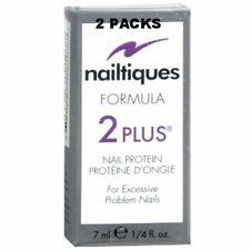 2 PAKCS -Nailtiques Formula 2 PLUS Nail Protein Treatment 1/4 ml (0.25 oz)