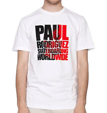 NIKE SB Paul Rodriguez Photo T-Shirt sz L Large White Red P Rod Skateboarding