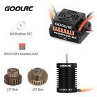 9T 3650 4370KV Brushless Motor + 60A ESC BEC +21T Gear + 28 Gear for 1/10 RC Car