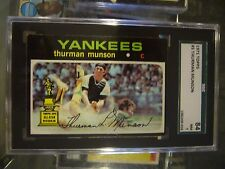 1971 TOPPS #5 THURMAN MUNSON NEW YORK YANKEES BASEBALL CARD SGC NM 7 84 SLABBED