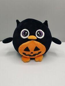 "Dan Dee 5.5"" Owl Plush Halloween Jack 'o' Lantern Squishable Stuffed Animal"