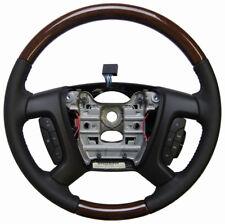 2008 Buick Enclave Steering Wheel Black Leather W/Wood New OEM 25807100 15868340